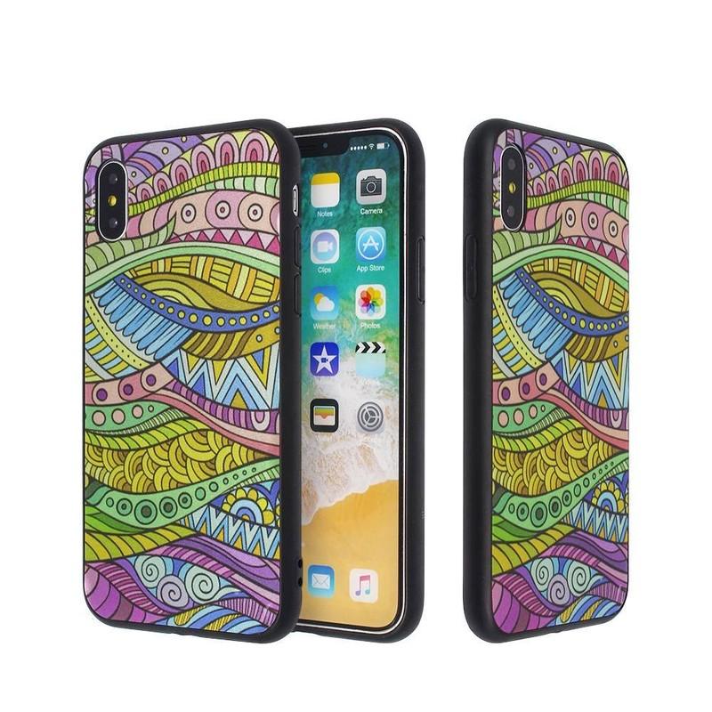 Caja de chapado de colores para IPhone X al por mayor