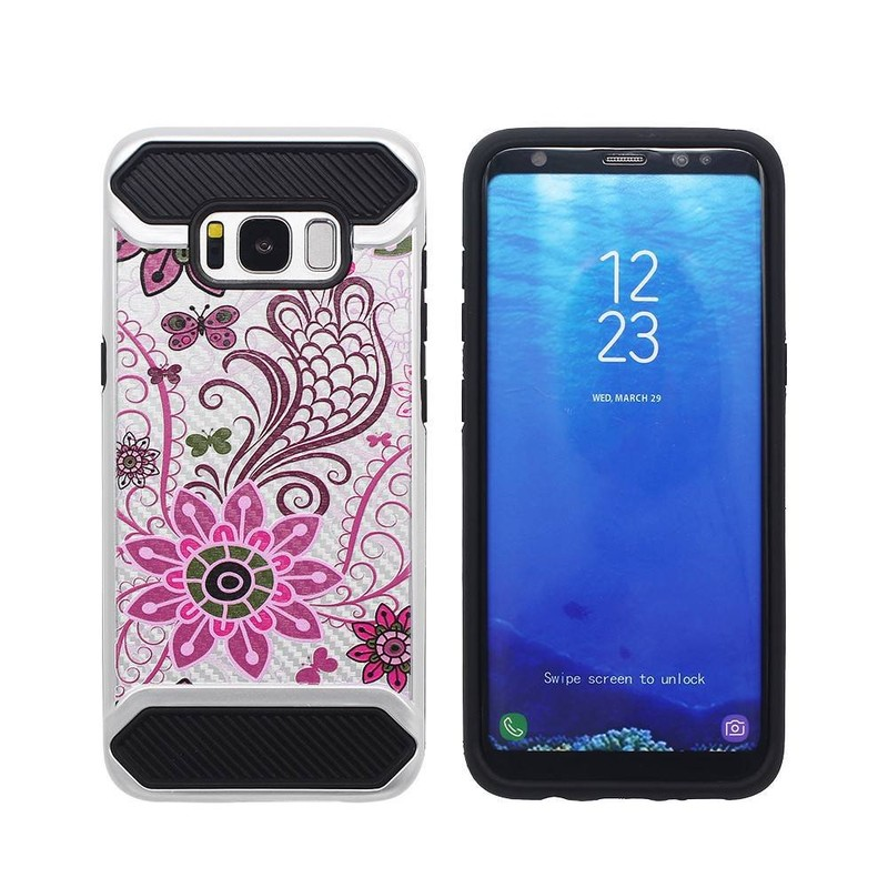 Samsung S8 Combo Case with Colorful Embossing Artworks