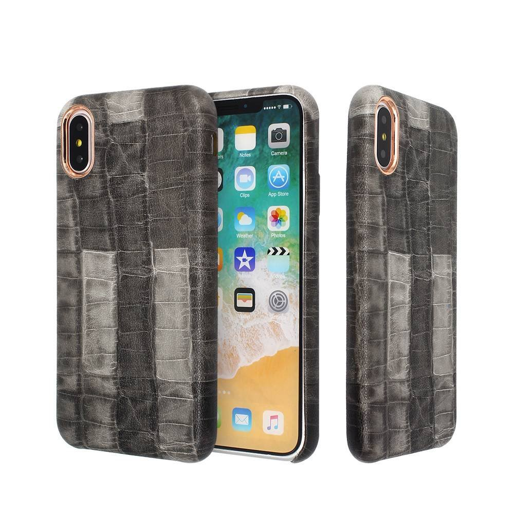 Fancy iPhone X Slim Leather Cases Made of PU Material
