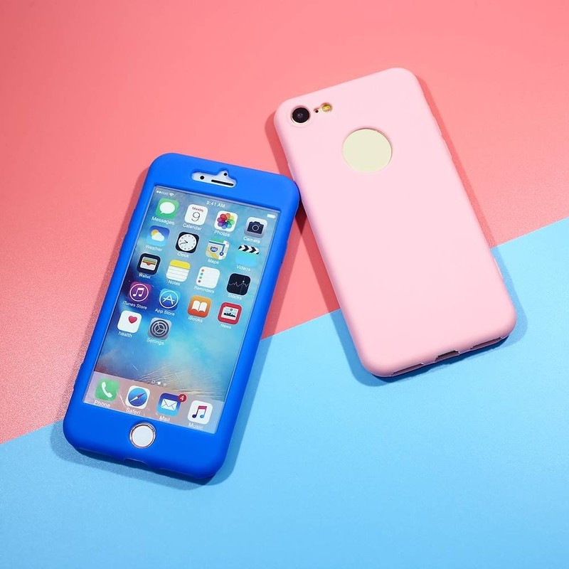 Prueba de suciedad completamente líquido de silicona de protección caso de teléfono para el iPhone 7