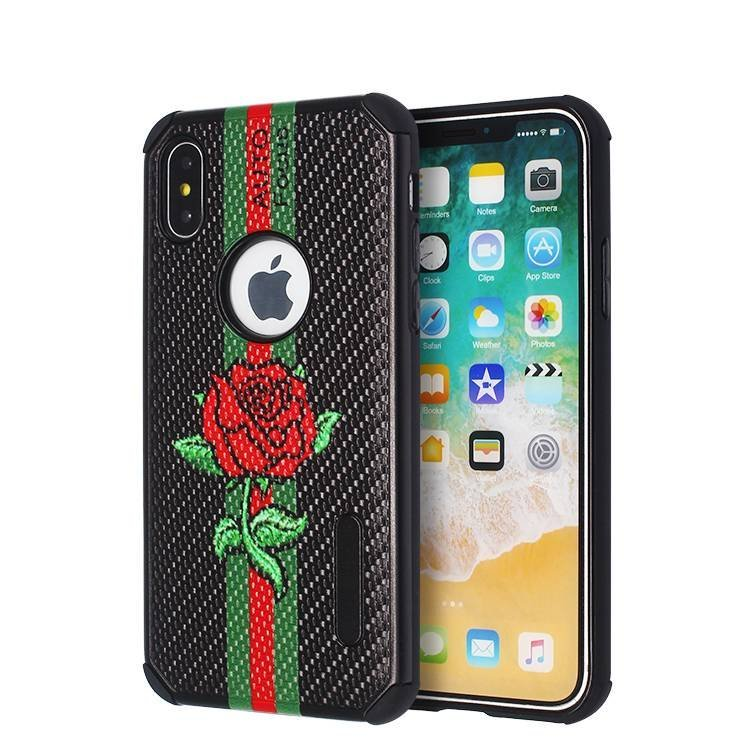 Luxury Color Printing 2 IN 1 Case for IPhone X Wholesale