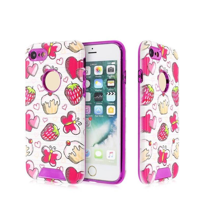 Electroplate el caso del iPhone 7 con las cubiertas traseras bastante grabadas