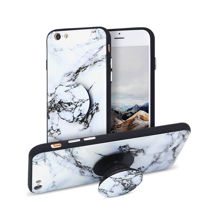 IPhone 6 Marble Phone Cases with Popsocket